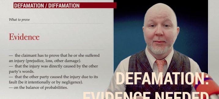 Defamation evidence