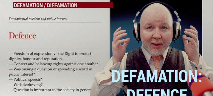 Defamation - Defence grounds